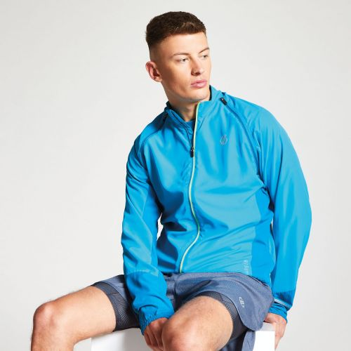 Dare2b Men's Oxidate Lightweight Detachable Sleeve Windshell Jacket Atlantic Blue Petrol Blue